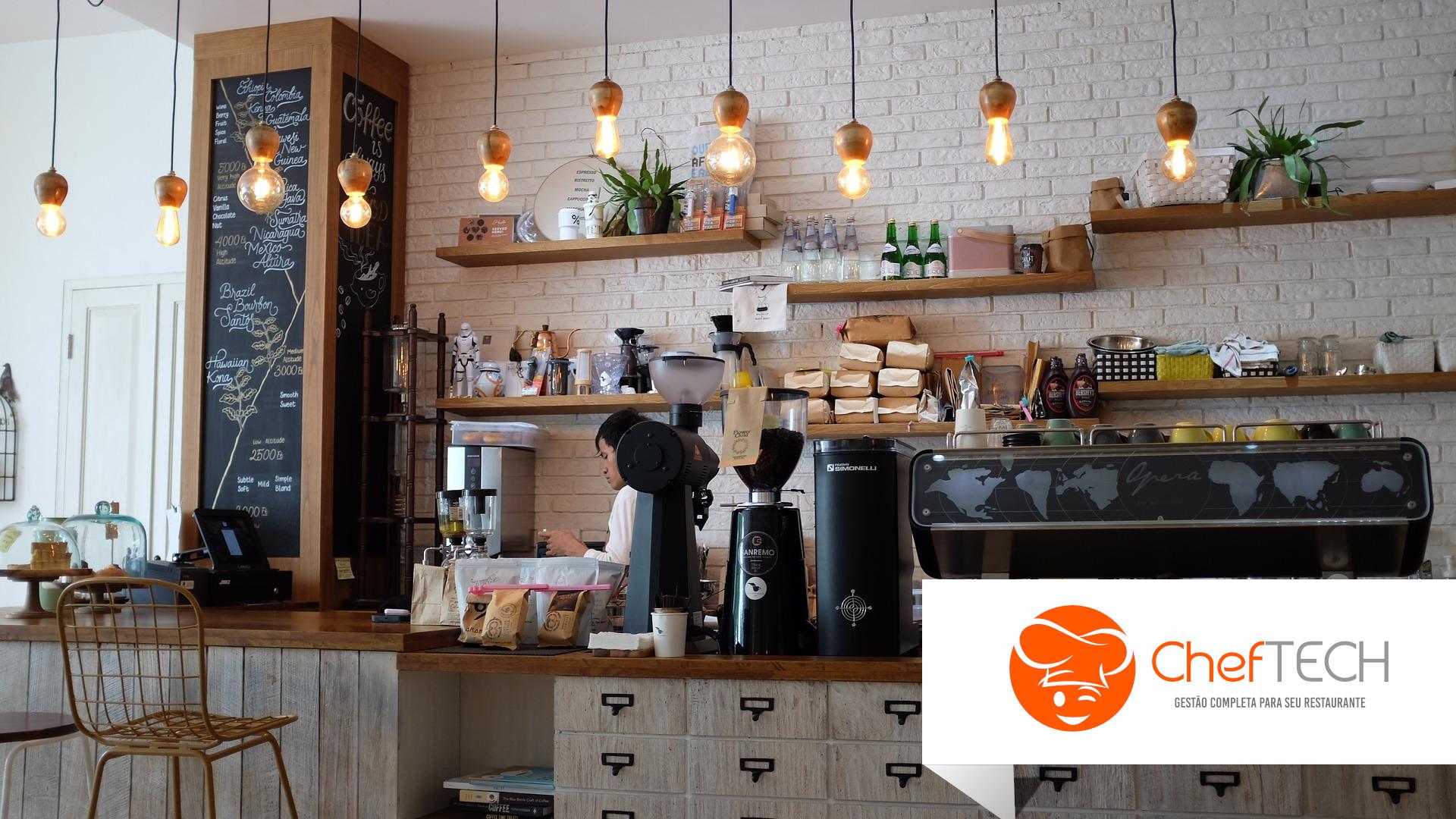 Cafeteria com sistema ChefTECH